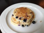 Easy almond blueberry and lemon breakfast pancakes